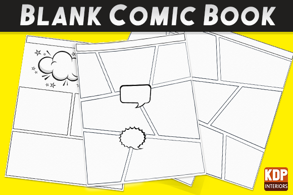 Download Free Blank Comic Book Pages Kdp Interior Grafik Von Kdp Interiors Creative Fabrica for Cricut Explore, Silhouette and other cutting machines.