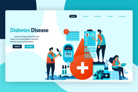 Blood Sugar and Diabetes Checks Graphic Graphic Templates By setiawanarief111