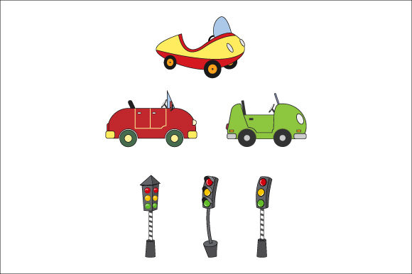 Download Free Car And Trafic Light Graphic By Curutdesign Creative Fabrica for Cricut Explore, Silhouette and other cutting machines.