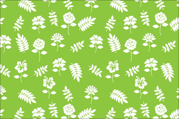 Download Free Flower And Leaves Pattern Graphic By Curutdesign Creative Fabrica for Cricut Explore, Silhouette and other cutting machines.
