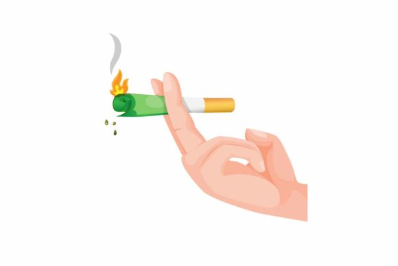 Download Free Hand Holding Cigarette With Half Money Graphic By Aryo Hadi for Cricut Explore, Silhouette and other cutting machines.