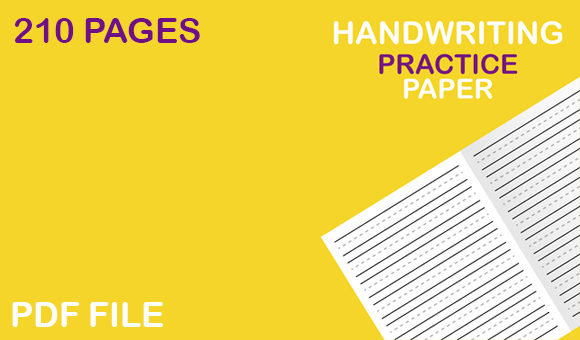 Download Free Handwriting Practice Paper For Kids Graphic By Mah Moud for Cricut Explore, Silhouette and other cutting machines.