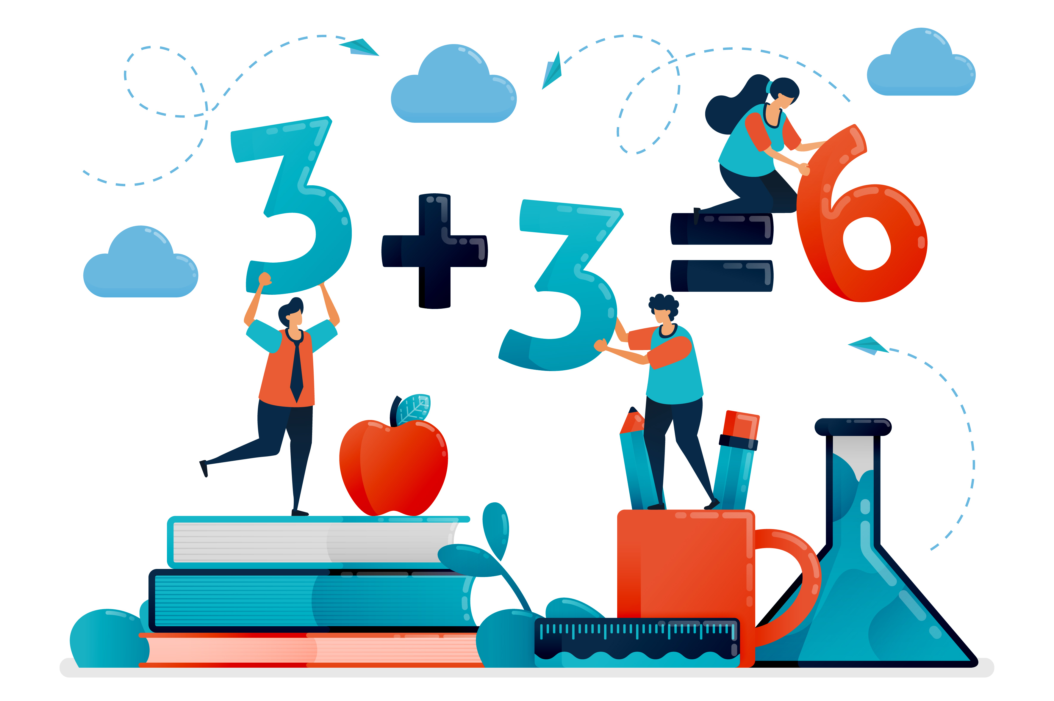 Download Free Illustration Of Education For Children Graphic By for Cricut Explore, Silhouette and other cutting machines.