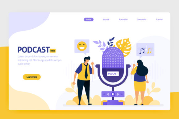 Download Free Illustration Of Podcast Broadcasting Graphic By Setiawanarief111 for Cricut Explore, Silhouette and other cutting machines.