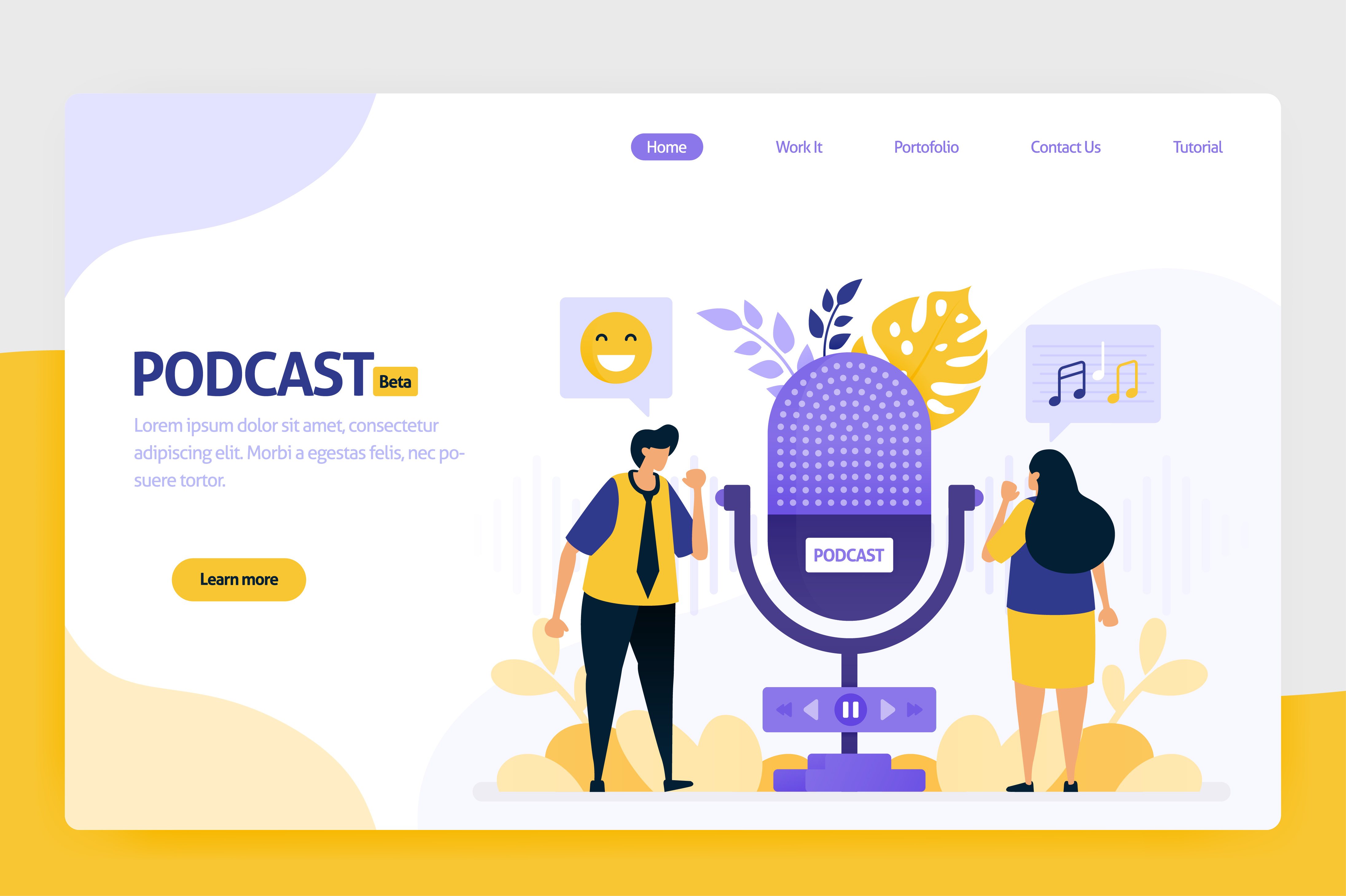 Download Free Illustration Of Podcast Broadcasting Graphic By Setiawanarief111 Creative Fabrica for Cricut Explore, Silhouette and other cutting machines.