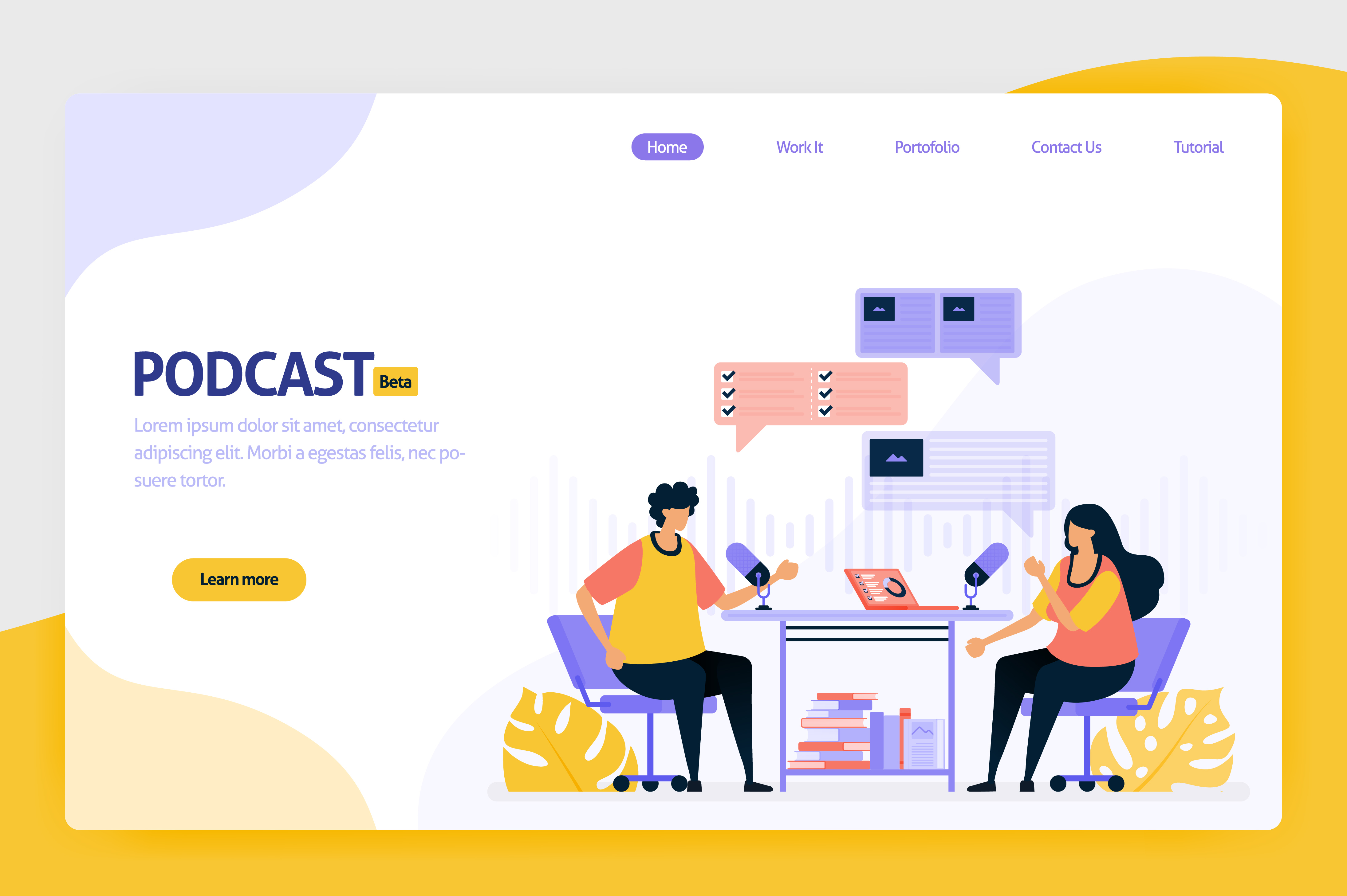 Download Free Illustration Of Podcast Broadcasting Grafik Von Setiawanarief111 for Cricut Explore, Silhouette and other cutting machines.