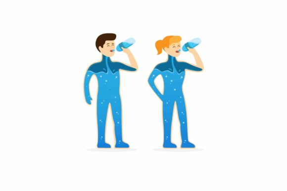 Download Free Man And Woman Drinking Water From Bottle Graphic By Aryo Hadi for Cricut Explore, Silhouette and other cutting machines.