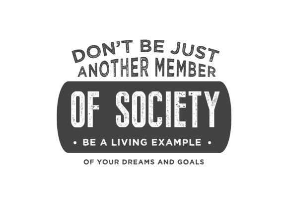 Download Free Member Of Society Graphic By Baraeiji Creative Fabrica for Cricut Explore, Silhouette and other cutting machines.