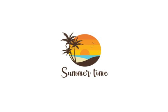 Print on Demand: Summer Island Logo Graphic Logos By sabavector