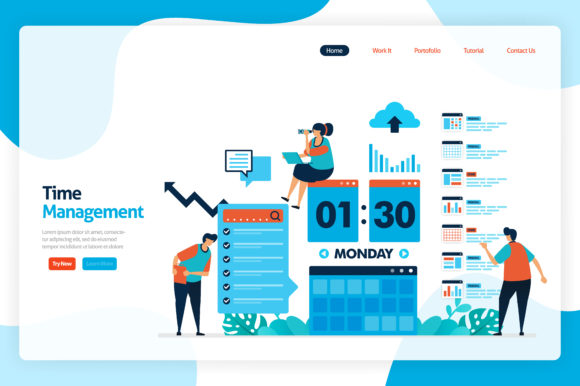 Download Free Time Management And Scheduling Jobs Graphic By Setiawanarief111 for Cricut Explore, Silhouette and other cutting machines.