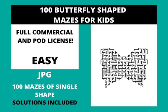 Download Free 200 Easy Mazes For Kids Vol 5 Graphic By Fleur De Tango for Cricut Explore, Silhouette and other cutting machines.