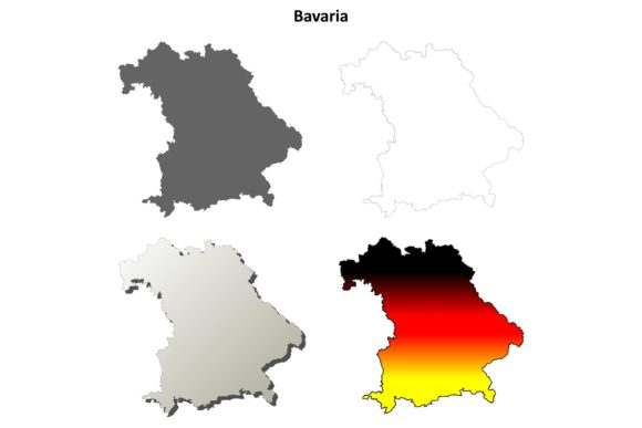 Download Free Bavaria Outline Map Set Graphic By Davidzydd Creative Fabrica for Cricut Explore, Silhouette and other cutting machines.