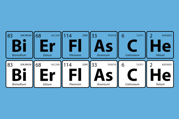 Download Free Bierflasche Periodic Table Vector Graphic By Graphicsfarm for Cricut Explore, Silhouette and other cutting machines.