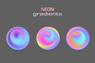 Circle Sphere Neon Colors Gradients Graphic Illustrations By Kapitosh