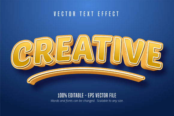 Print on Demand: Creative Text, 3D Editable Text Effect Graphic Graphic Templates By Mustafa Bekşen