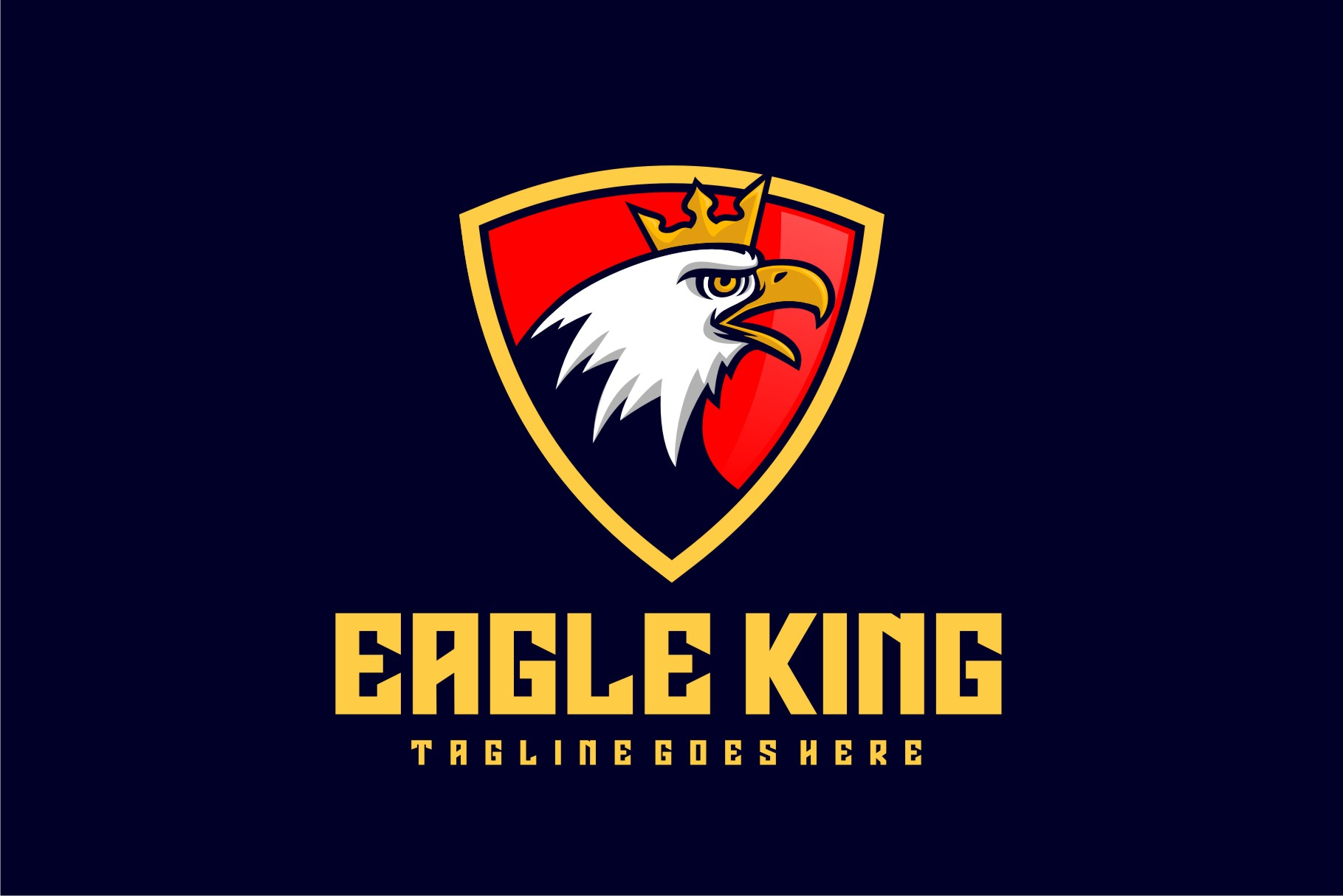 Download Free Eagle King Graphic By Herulogo Creative Fabrica for Cricut Explore, Silhouette and other cutting machines.