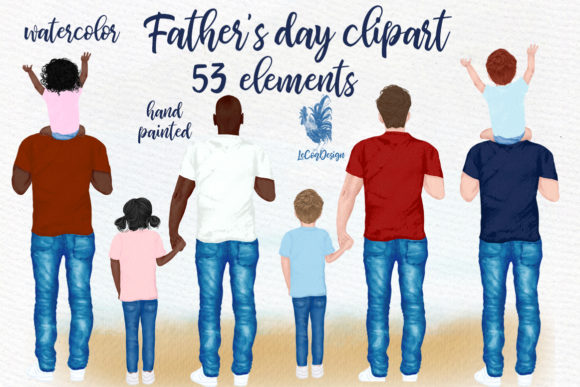Father's Day Clipart Grafik Illustrationen von LeCoqDesign