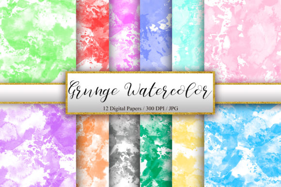 Grunge Watercolor Texture Background Graphic Backgrounds By PinkPearly