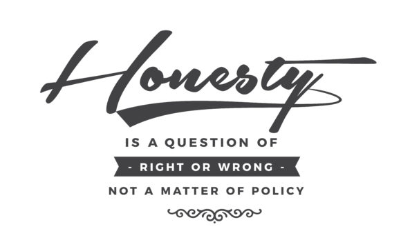 Print on Demand: Honesty is a Question of Right or Wrong Graphic Illustrations By baraeiji