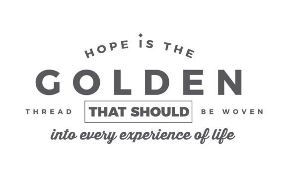 Print on Demand: Hope is the Golden Thread Graphic Illustrations By baraeiji