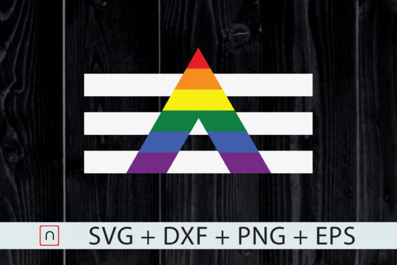 Print on Demand: LGBT Straight Ally Pride Flag Cricut Graphic Print Templates By Novalia