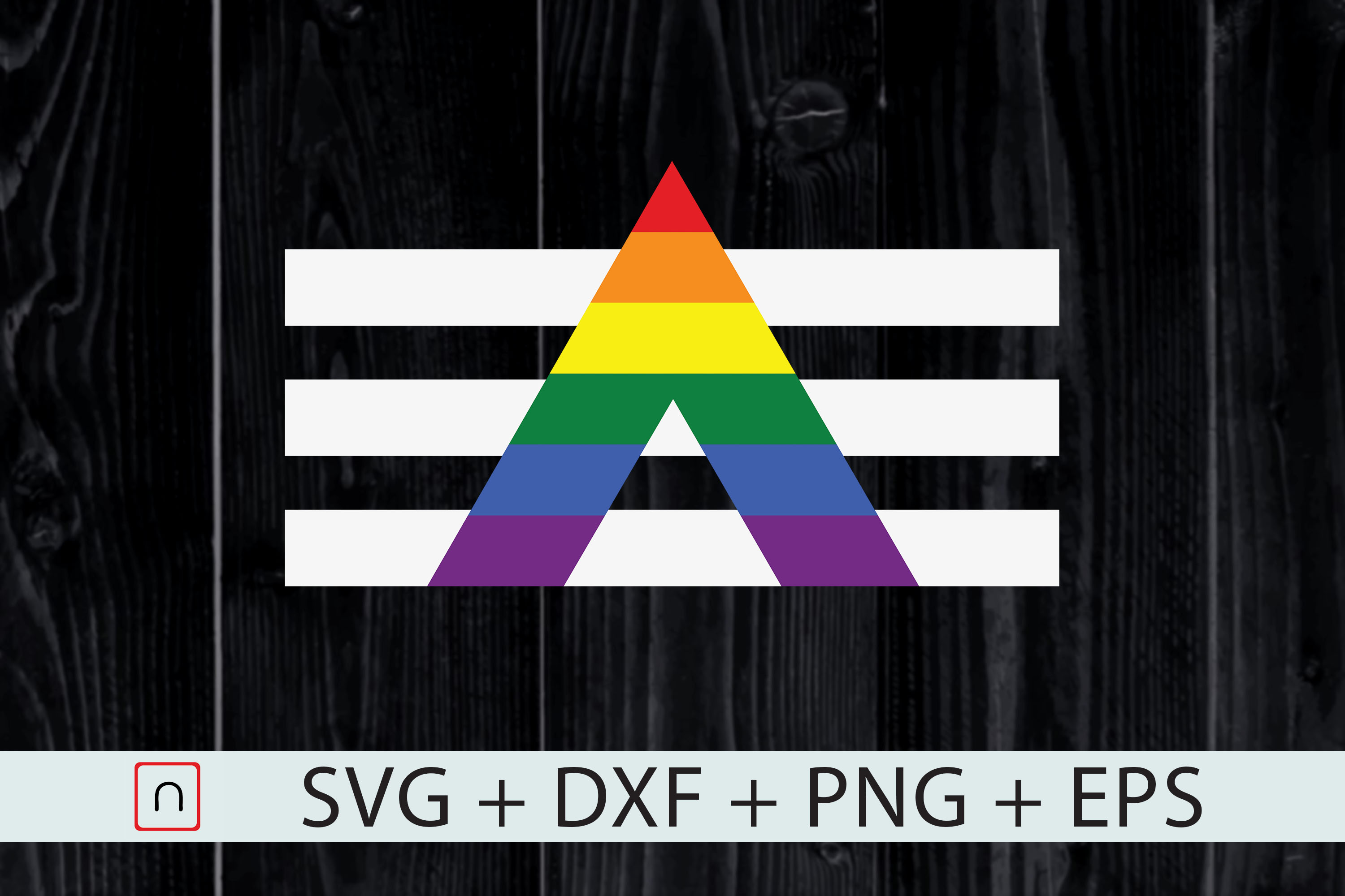 Download Free Lgbt Straight Ally Svg Pride Flag Cricut Graphic By Novalia for Cricut Explore, Silhouette and other cutting machines.