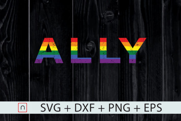 Download Free Lgbtq Ally Rainbow Ally Design Graphic By Novalia Creative Fabrica for Cricut Explore, Silhouette and other cutting machines.