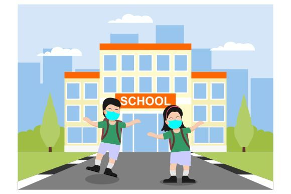 Download Free New Normal Applied At School Graphic By Redvy Creative for Cricut Explore, Silhouette and other cutting machines.