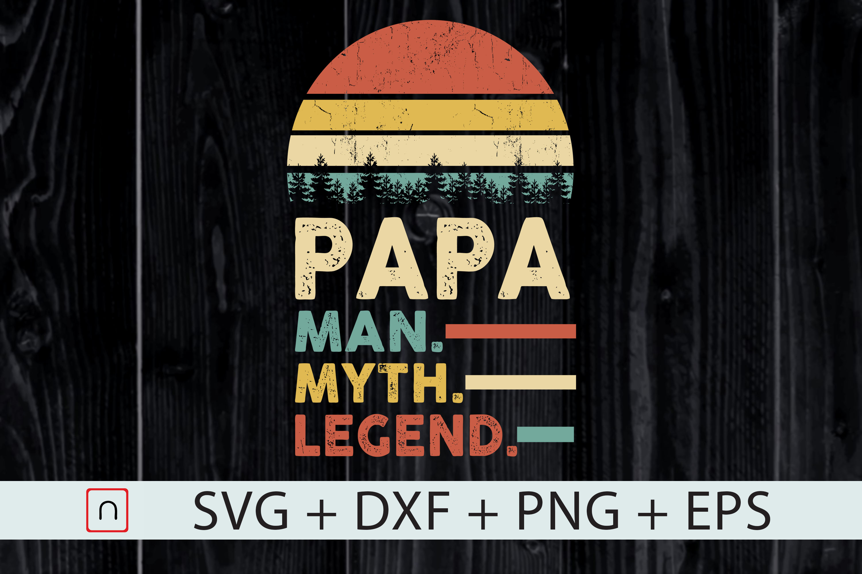 Download Free Papa Man Myth Legend Father Gift Graphic By Novalia Creative for Cricut Explore, Silhouette and other cutting machines.