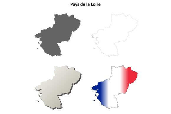 Download Free Pays De La Loire Outline Map Set Graphic By Davidzydd Creative for Cricut Explore, Silhouette and other cutting machines.