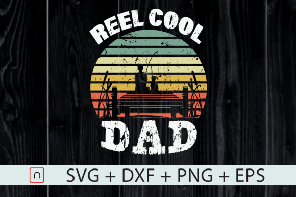Print on Demand: Reel Cool Dad Father's Day Gift   Graphic Print Templates By Novalia