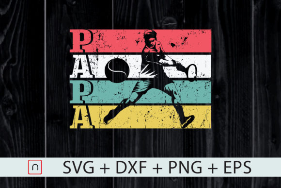 Download Free Retro Tennis Papa Father S Day Gift Graphic By Novalia for Cricut Explore, Silhouette and other cutting machines.