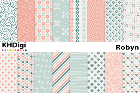 Print on Demand: Robyn - Digital Paper Graphic Backgrounds By KHDigi