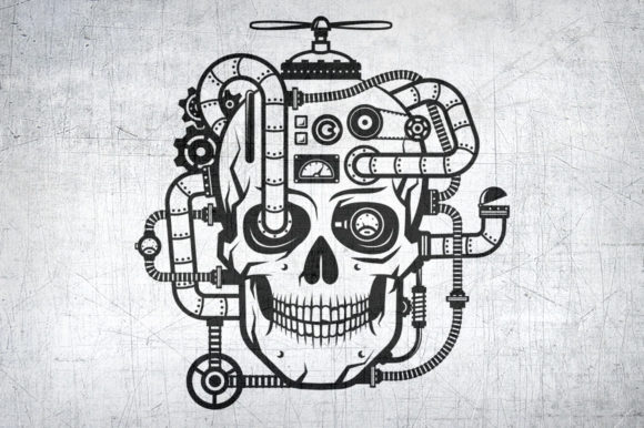 Steampunk Skull Graphic Illustrations By Agor2012