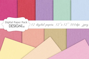 Print on Demand: Sweet Linen Digital Paper Pack Graphic Textures By DesignItfor
