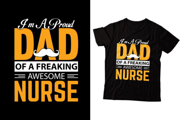 I'm a Proud Dad Graphic Print Templates By Storm Brain