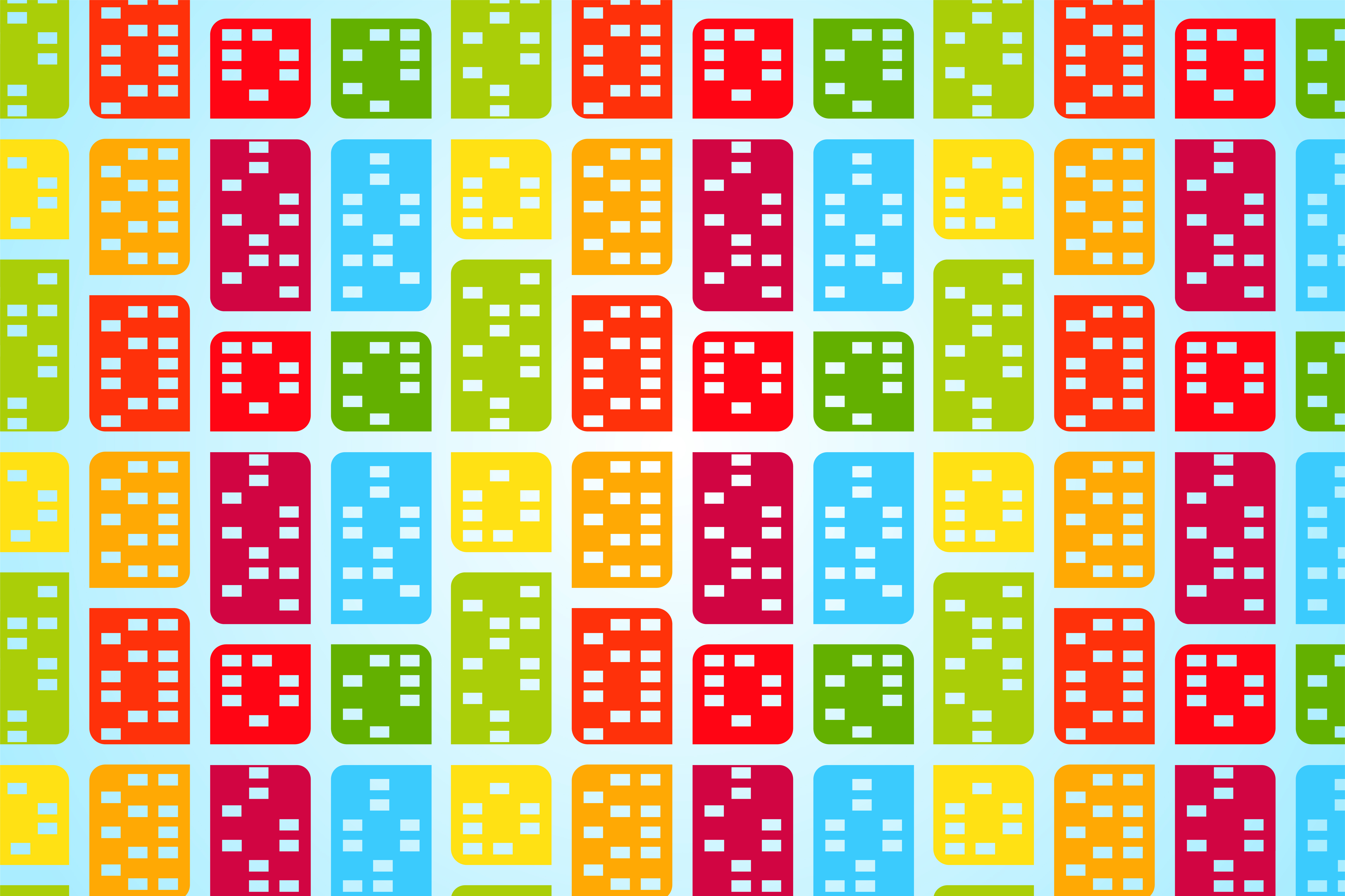 Download Free Rectangle Round Side Colorful Pattern Graphic By Noory Shopper for Cricut Explore, Silhouette and other cutting machines.