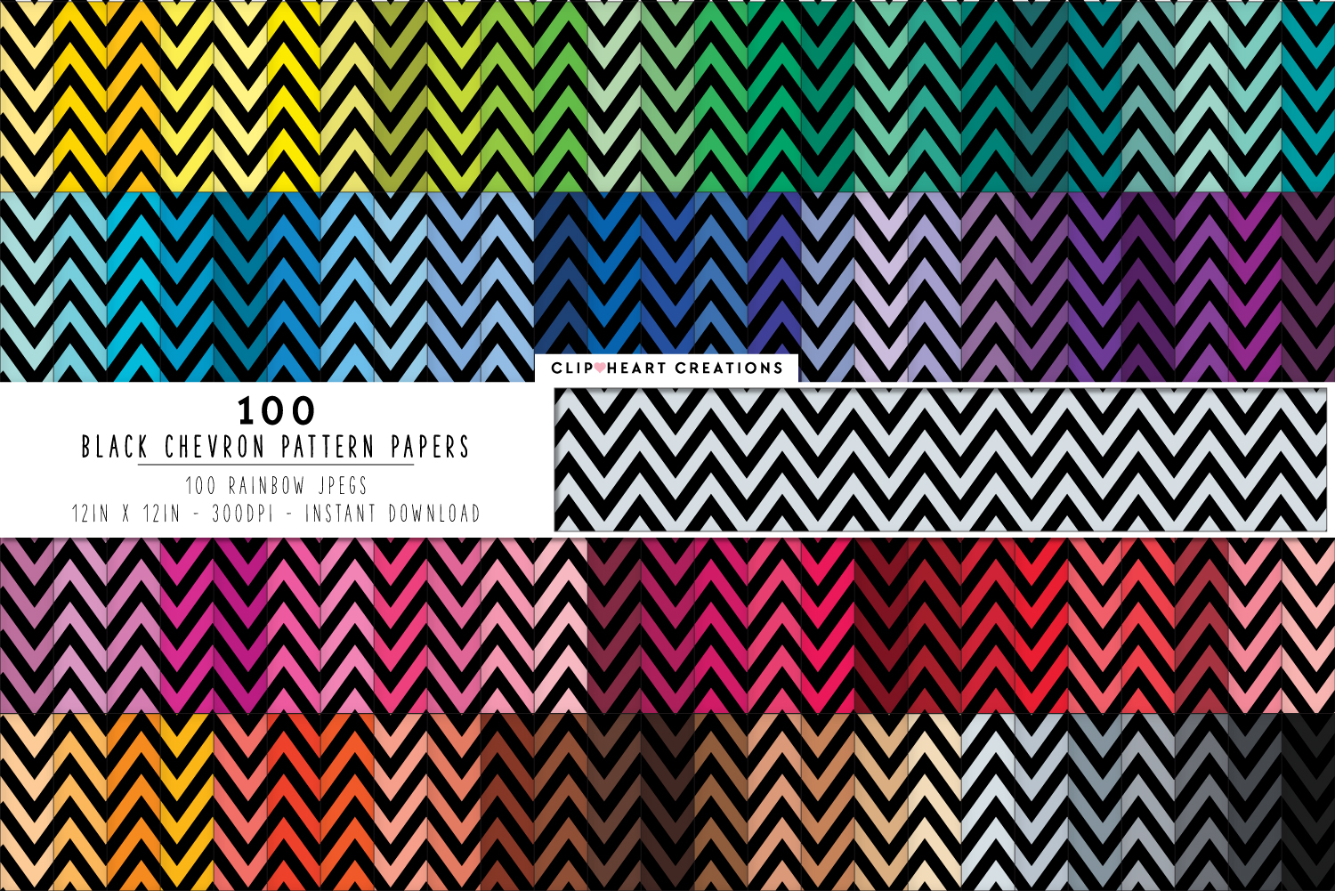 Download Free 100 Chevron Digital Paper Pack Graphic By Clipheartcreations for Cricut Explore, Silhouette and other cutting machines.