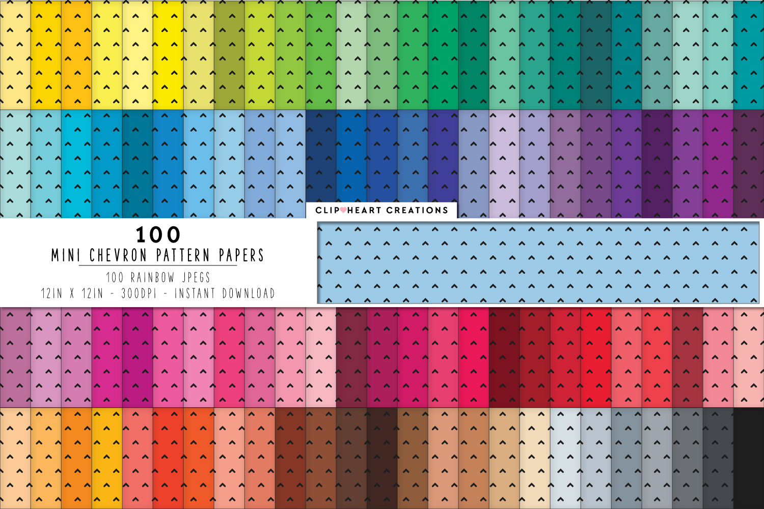 Download Free 100 Chevron Digital Paper Pack Graphic By Clipheartcreations SVG Cut Files