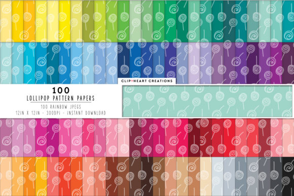 Download Free 100 Lollipops Pattern Digital Paper Graphic By SVG Cut Files