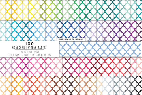 Download Free 100 Moroccan Pattern Digital Paper Pack Graphic By for Cricut Explore, Silhouette and other cutting machines.