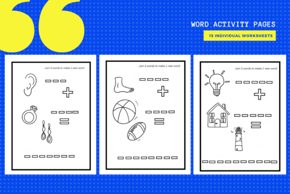 Print on Demand: 15 Find the Word English Activity Sheets Graphic Teaching Materials By yumbeehomeschool