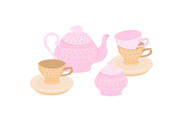 Tea Set Tea Craft Cut File By Creative Fabrica Crafts