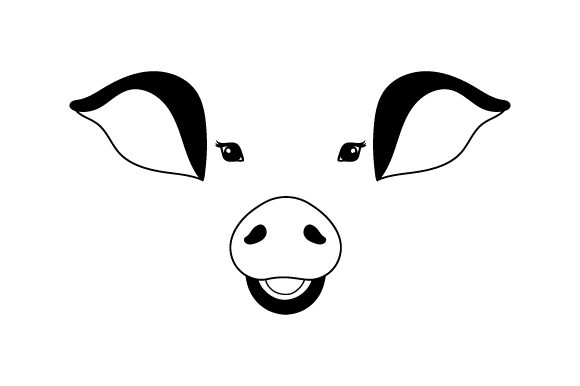 Download Free Floating Pig Face Svg Cut File By Creative Fabrica Crafts for Cricut Explore, Silhouette and other cutting machines.