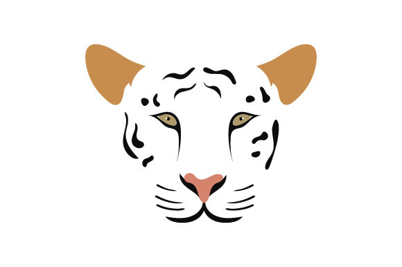 Floating Tiger Face Animales Archivo de Corte Craft Por Creative Fabrica Crafts