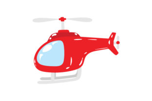 Red Helicopter Red Vehicles Craft Cut File By Creative Fabrica Crafts