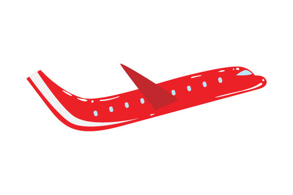 Red Plane Red Vehicles Craft Cut File By Creative Fabrica Crafts