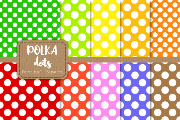 Print on Demand: 20 Seamless Retro Polka Dot Papers Graphic Backgrounds By Prawny