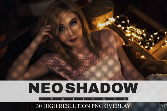 Print on Demand: 30 Neo Shadow Overlays Graphic Textures By 3Motional