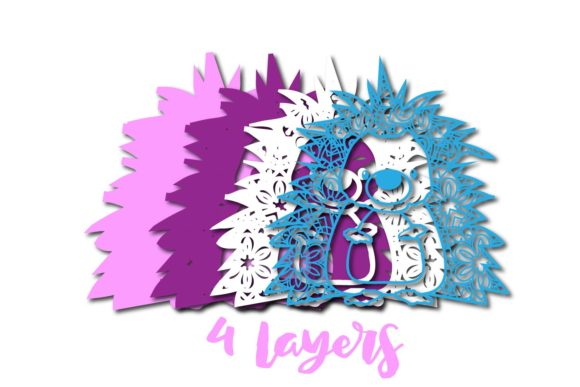 Download Free 3d Multi Layer Cute Hedgehog Graphic By Sintegra Creative Fabrica for Cricut Explore, Silhouette and other cutting machines.